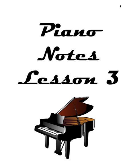 Piano Notes Lesson 3