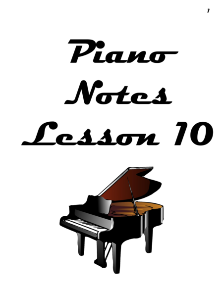 Piano Notes Lesson 10