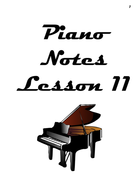 Piano Notes Lesson 11