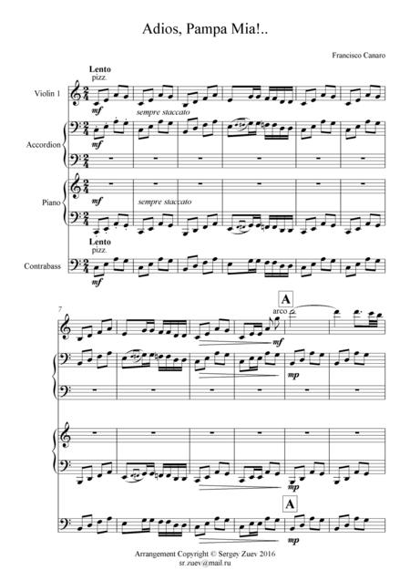 Canaro - Adios Pampa Mia (Quartet)