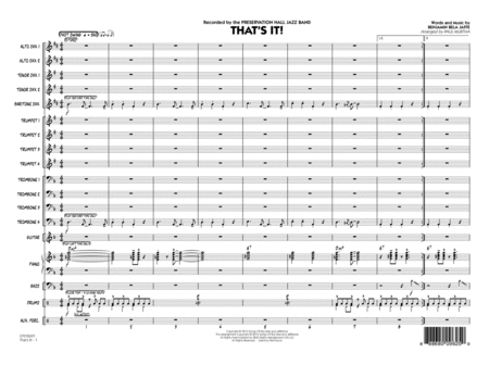 That's It! - Conductor Score (Full Score)