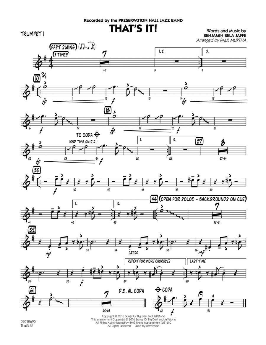 That's It! - Trumpet 1
