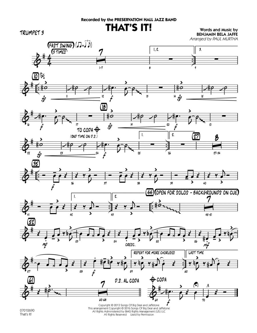That's It! - Trumpet 3