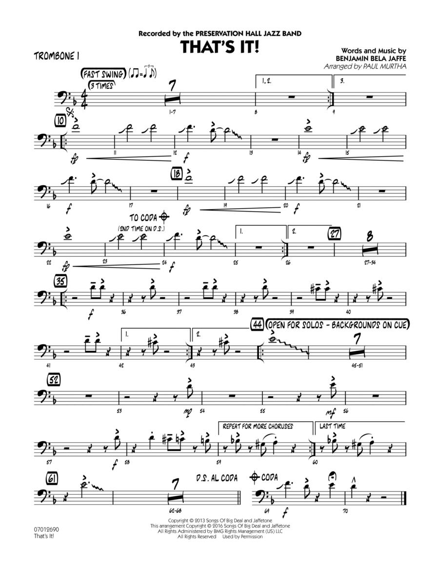 That's It! - Trombone 1