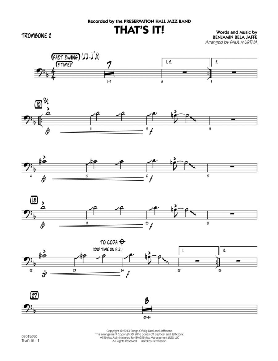 That's It! - Trombone 2