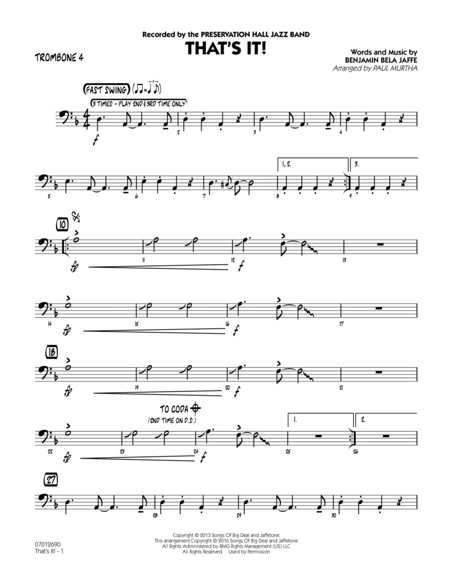 That's It! - Trombone 4
