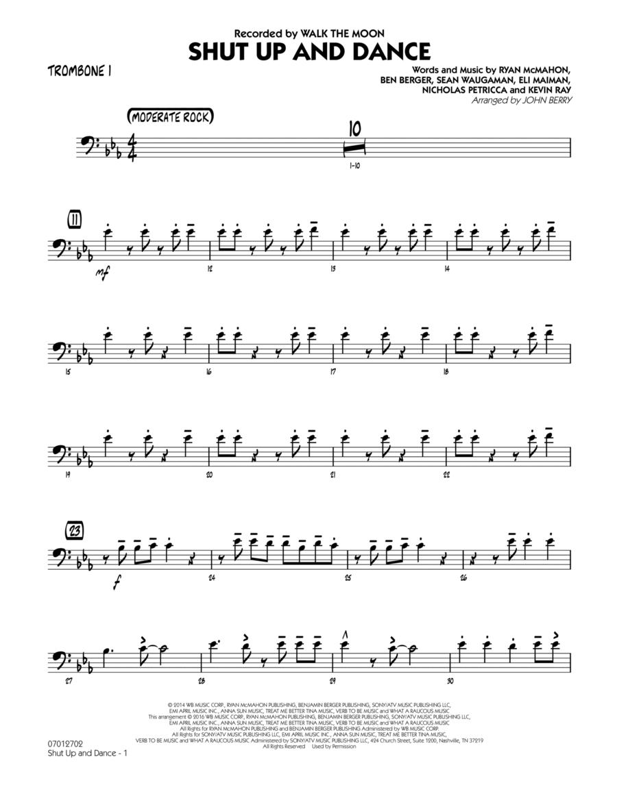 Shut Up and Dance - Trombone 1