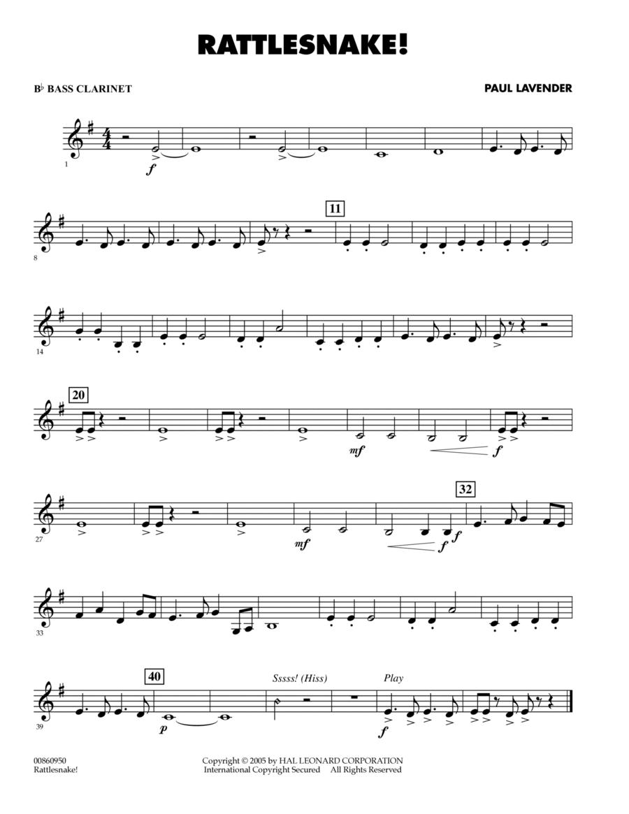Rattlesnake! - Bb Bass Clarinet
