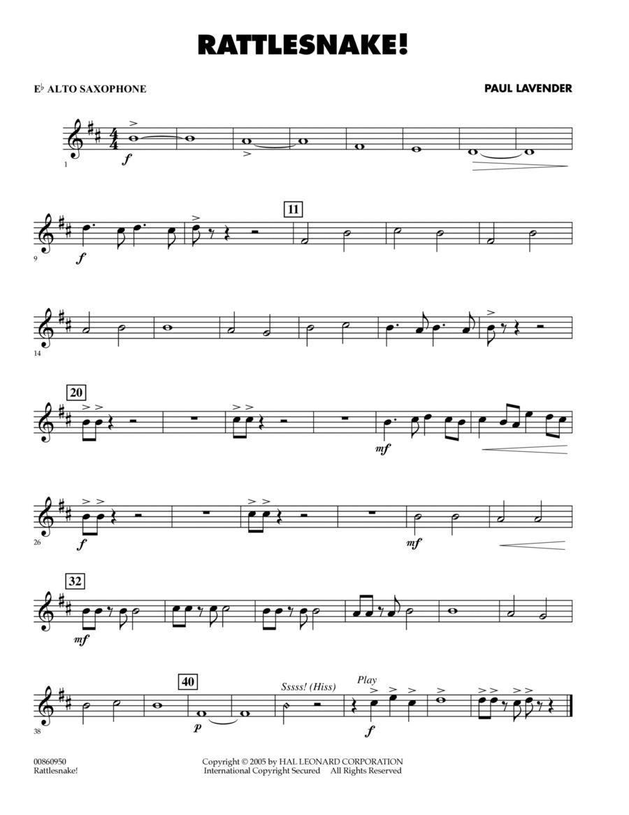 Rattlesnake! - Eb Alto Saxophone
