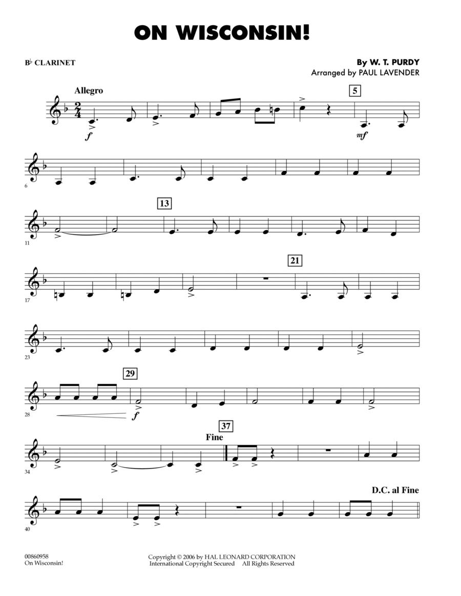 On Wisconsin! - Bb Clarinet