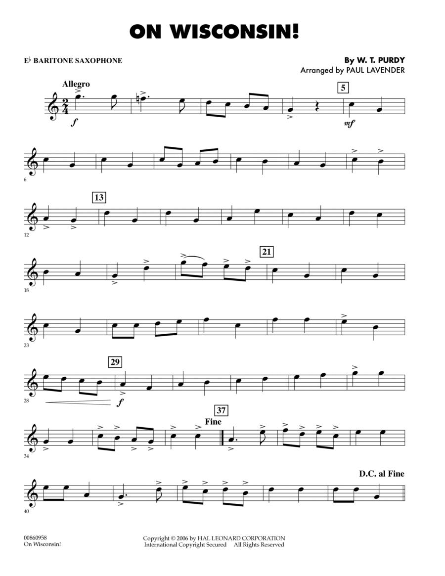On Wisconsin! - Eb Baritone Saxophone