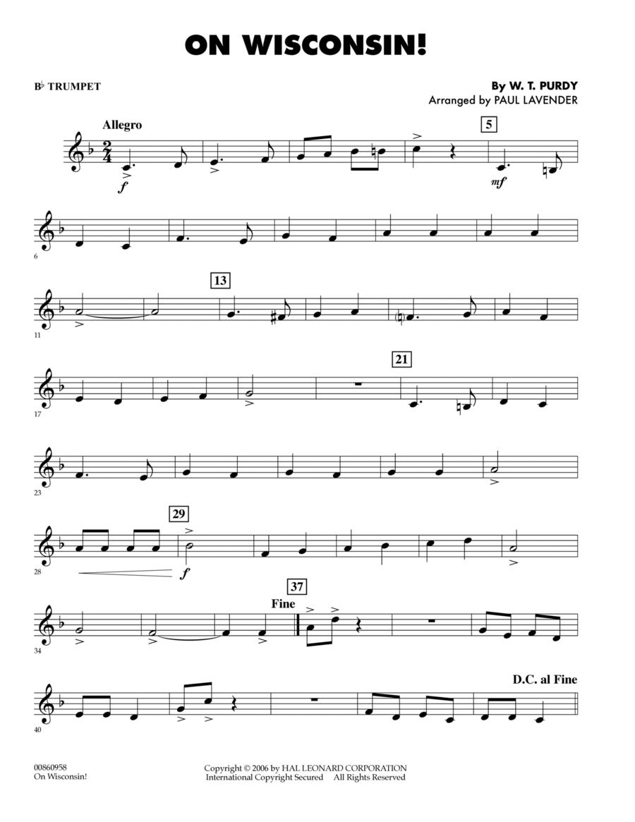 On Wisconsin! - Bb Trumpet