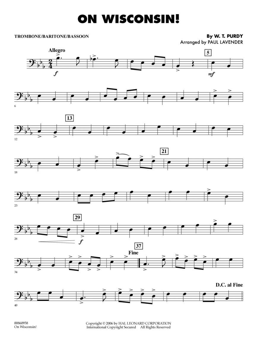 On Wisconsin! - Trombone/Baritone B.C./Bassoon