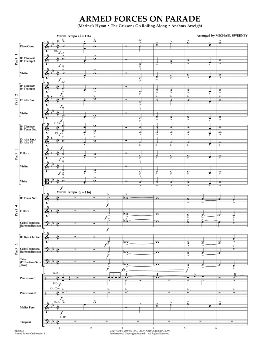 Armed Forces on Parade - Conductor Score (Full Score)