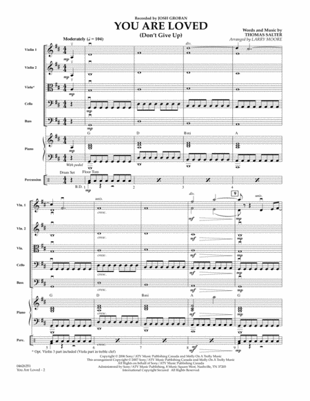 You Are Loved (Don't Give Up) - Full Score