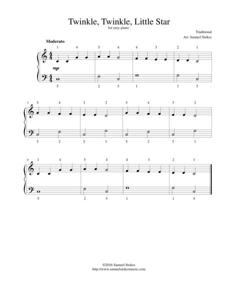 Twinkle, Twinkle, Little Star - for easy piano