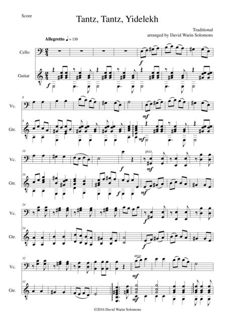 Tantz tantz yidelekh for cello and guitar