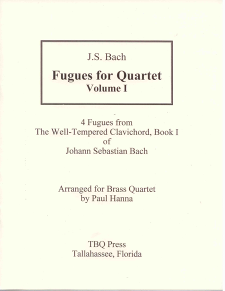 Fugues for Quartet, Volume I