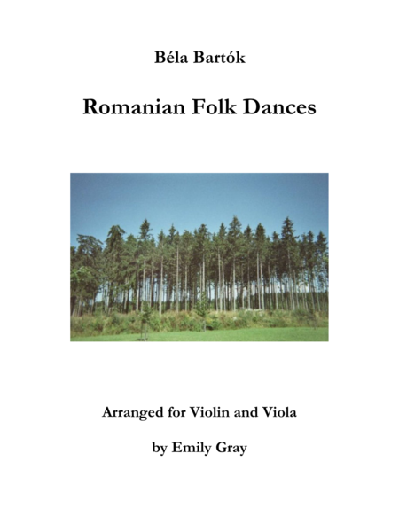 Romanian Folk Dances (Violin and Viola)