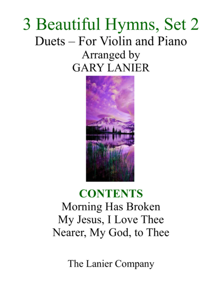Gary Lanier: 3 BEAUTIFUL HYMNS, Set 2 (Duets for Violin & Piano)
