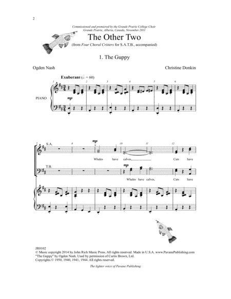 Four Choral Critters - The Other Two