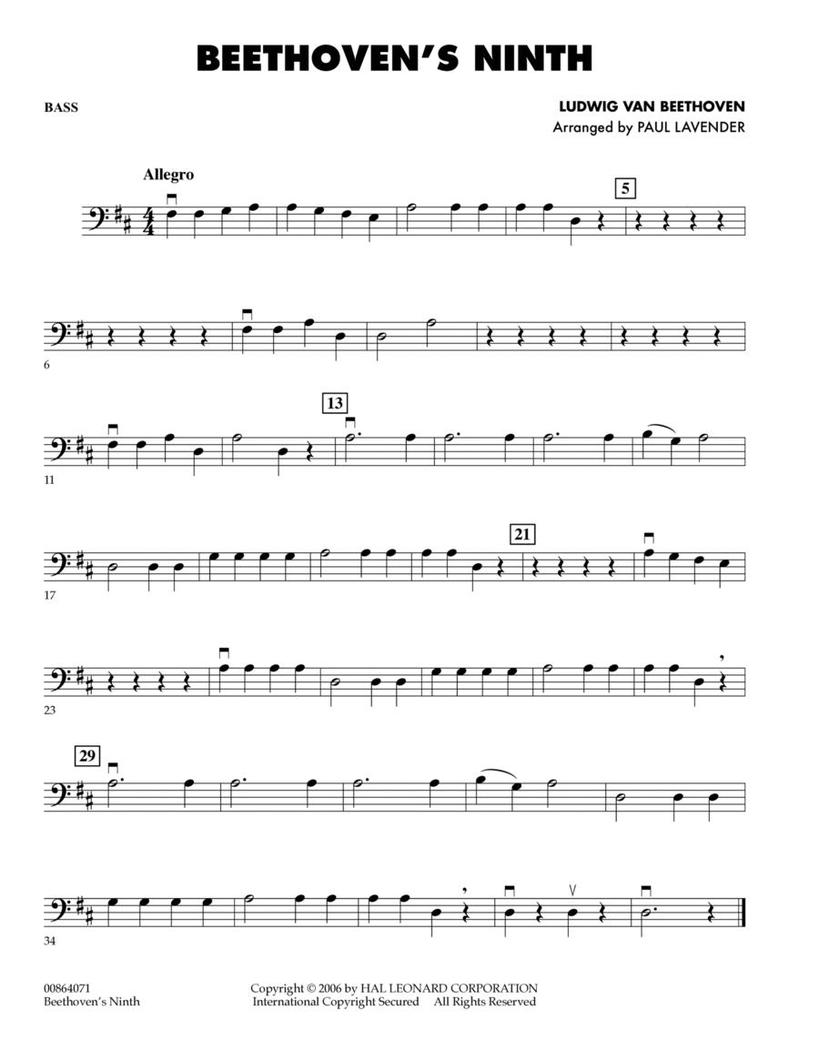 Beethoven's Ninth - String Bass