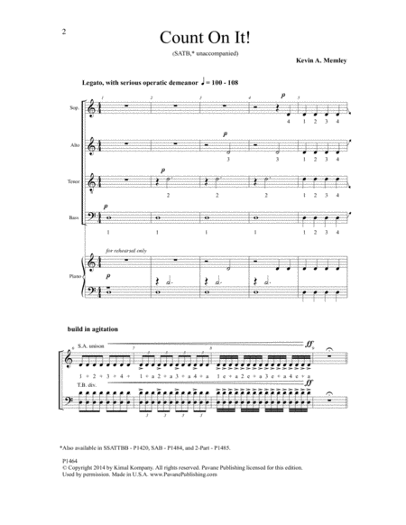 Count On It - SATB