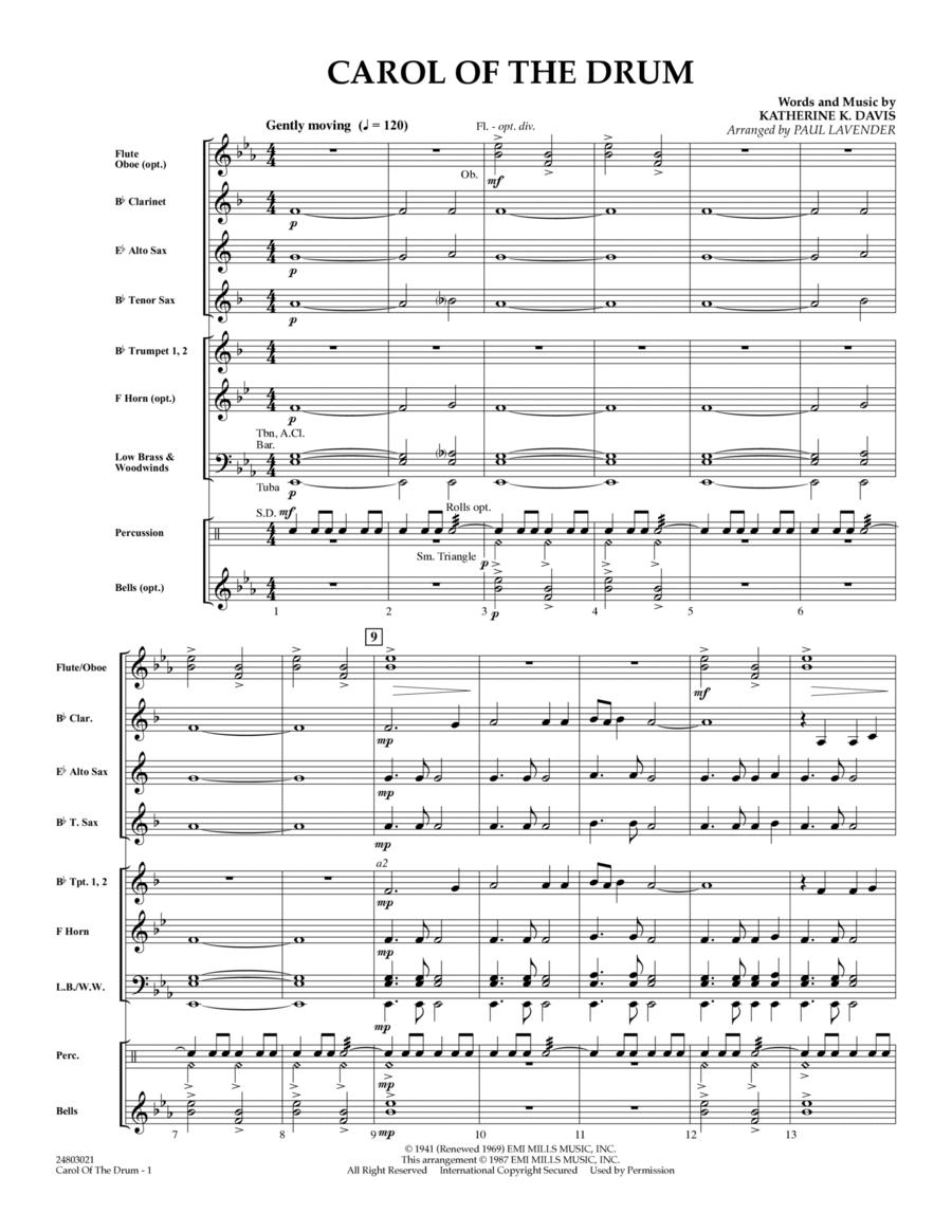 Carol of the Drum - Full Score