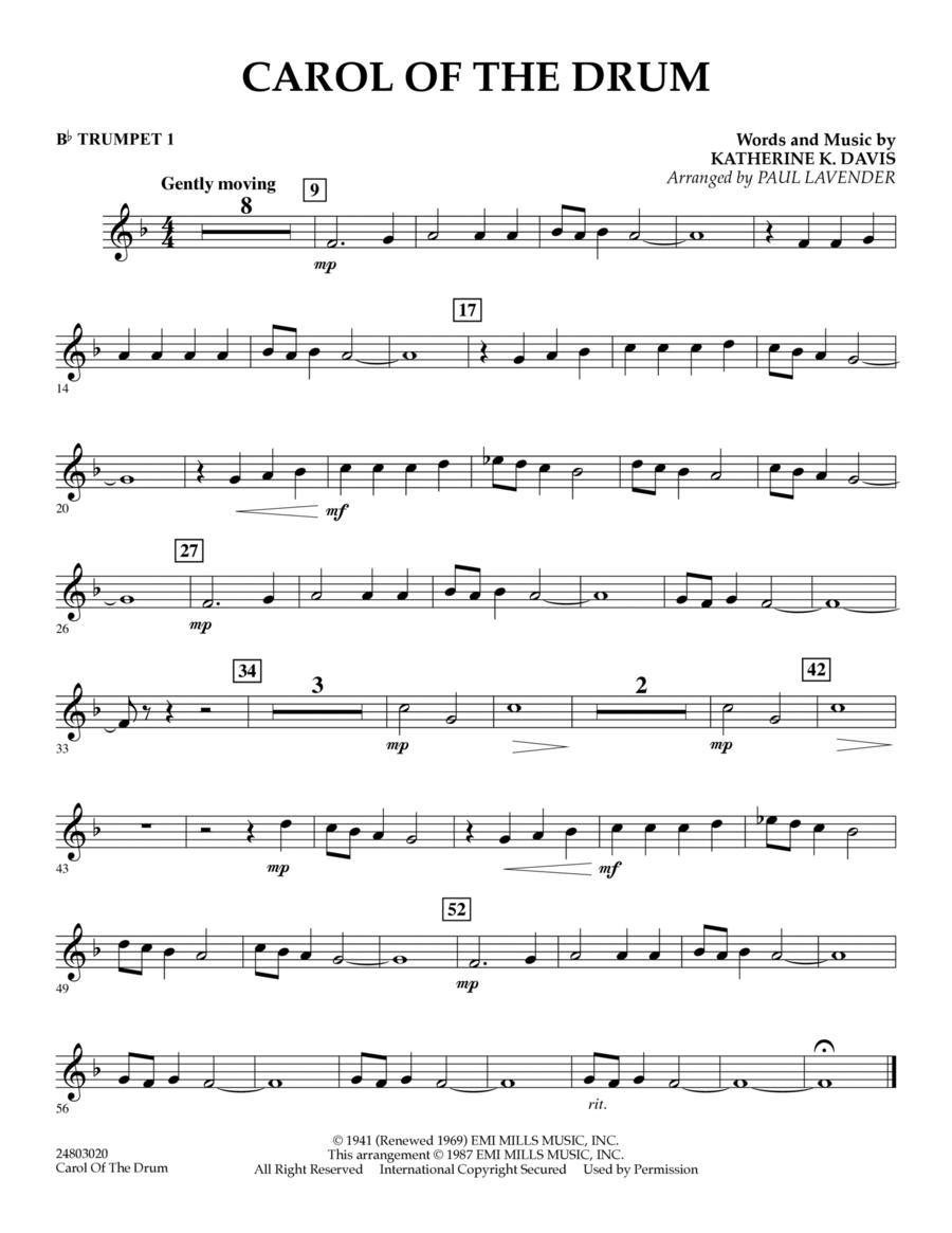 Carol of the Drum - Bb Trumpet 1