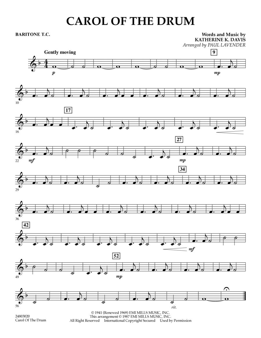 Carol of the Drum - Baritone T.C.