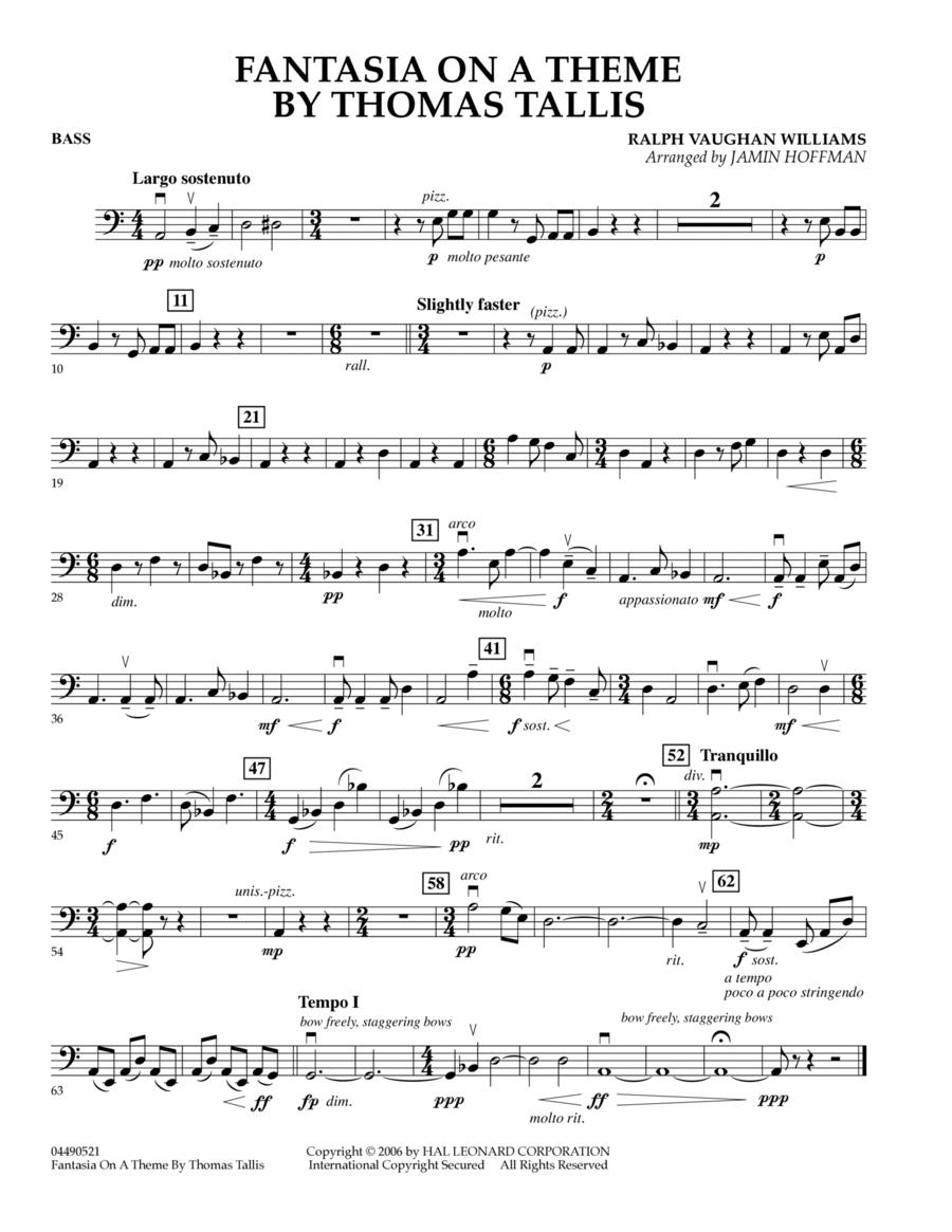 Fantasia on a Theme by Thomas Tallis - Bass