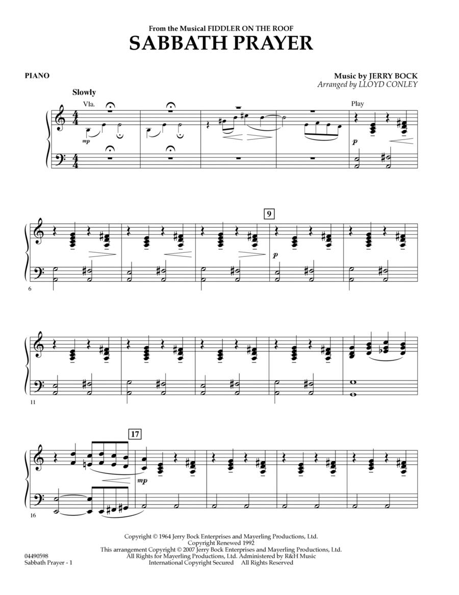 Sabbath Prayer - Piano