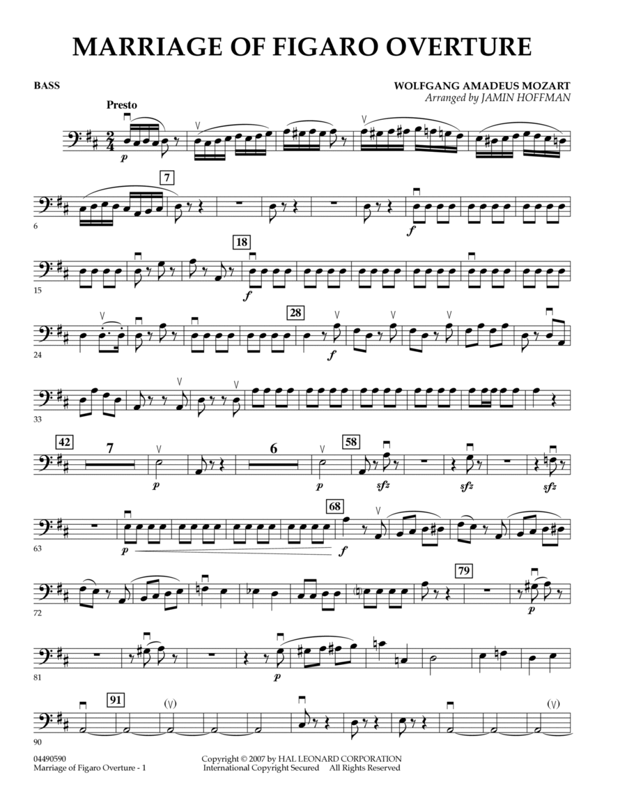 Overture to Marriage of Figaro - Bass