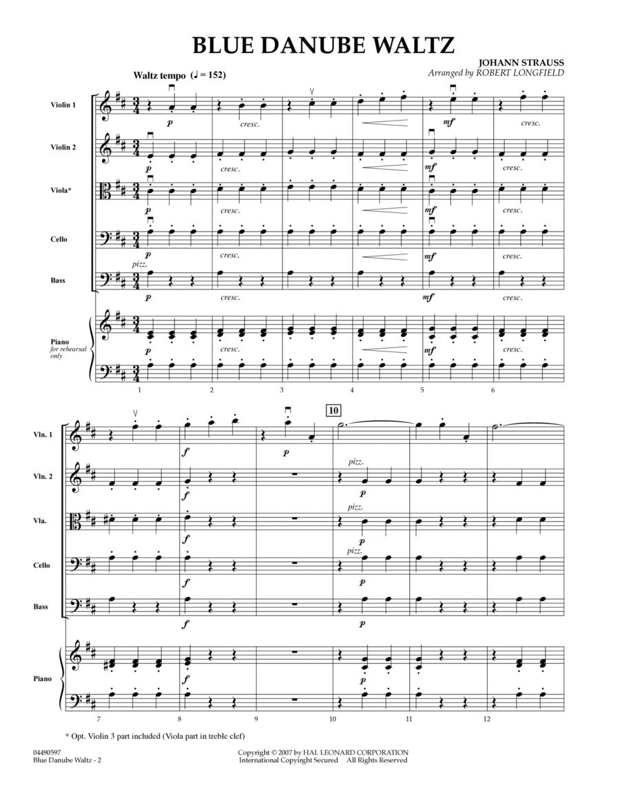 Blue Danube Waltz - Full Score