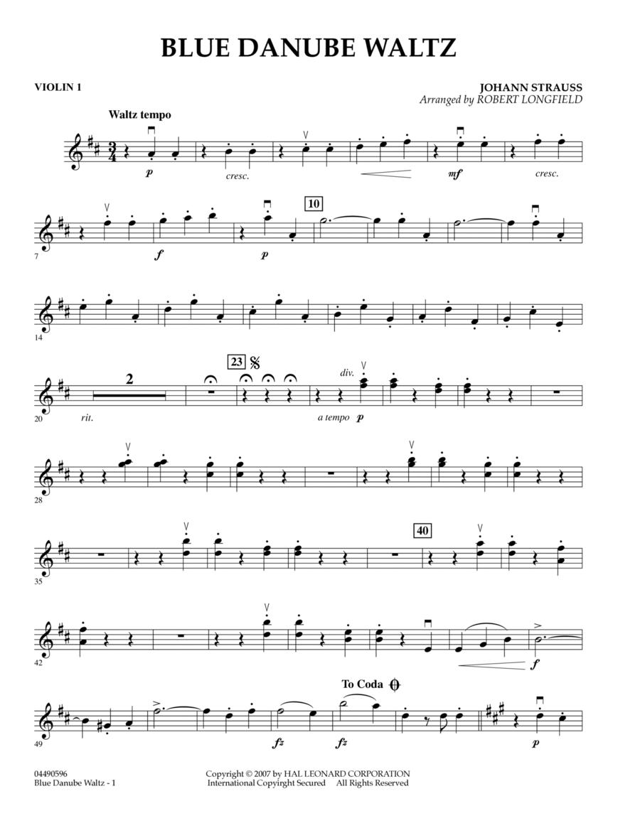Blue Danube Waltz - Violin 1