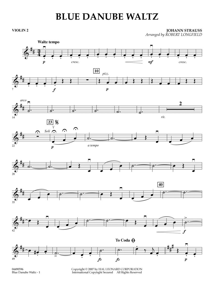 Blue Danube Waltz - Violin 2