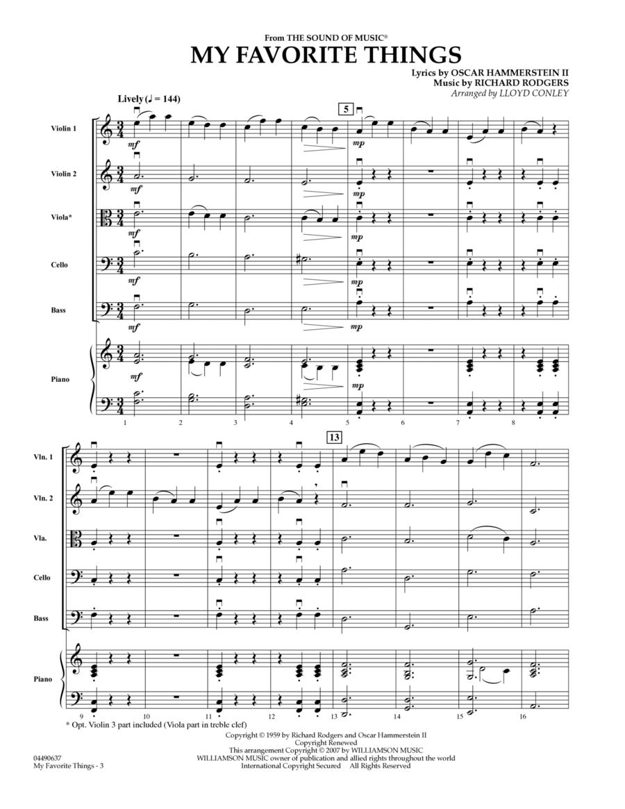 My Favorite Things - Full Score