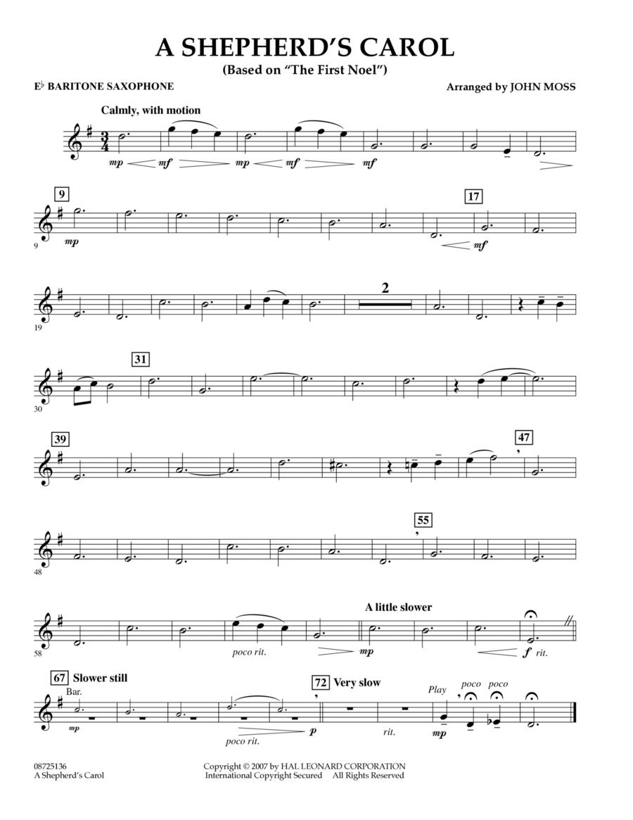 A Shepherd's Carol (Based On The First Noel) - Eb Baritone Saxophone