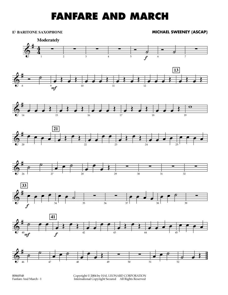 Fanfare And March - Eb Baritone Saxophone