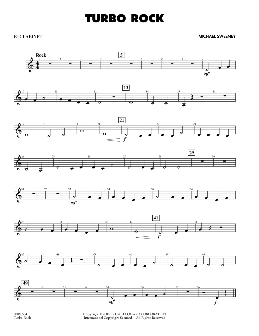 Turbo Rock - Bb Clarinet