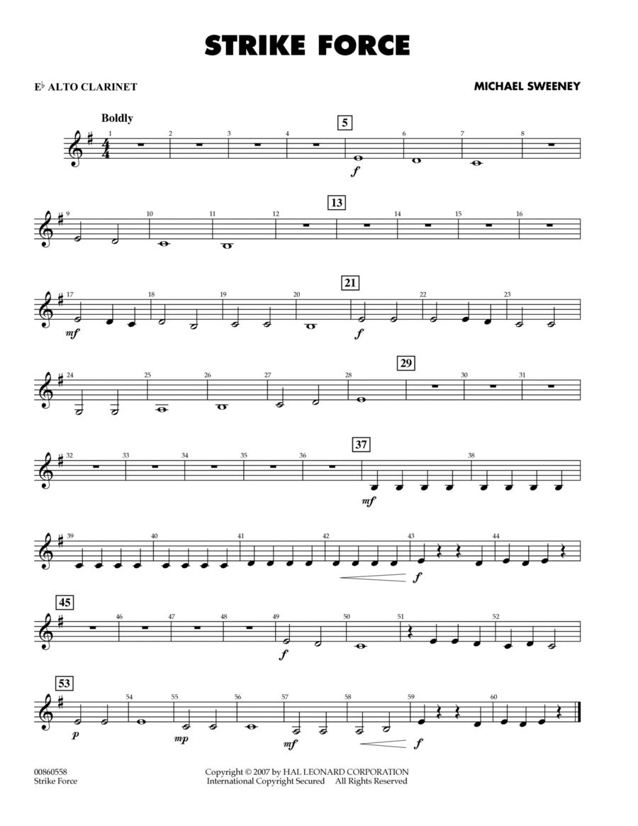 Strike Force - Eb Alto Clarinet