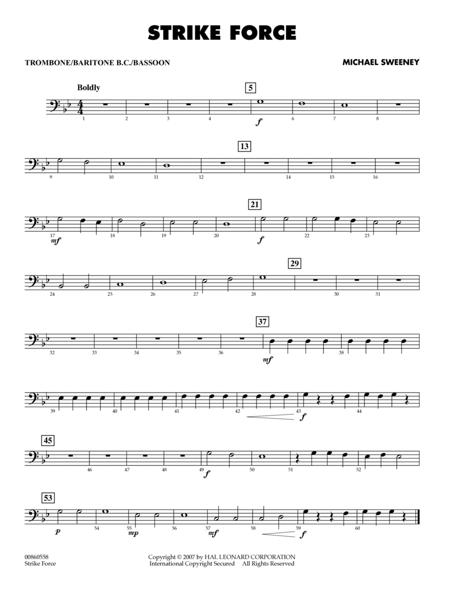 Strike Force - Trombone/Baritone B.C./Bassoon