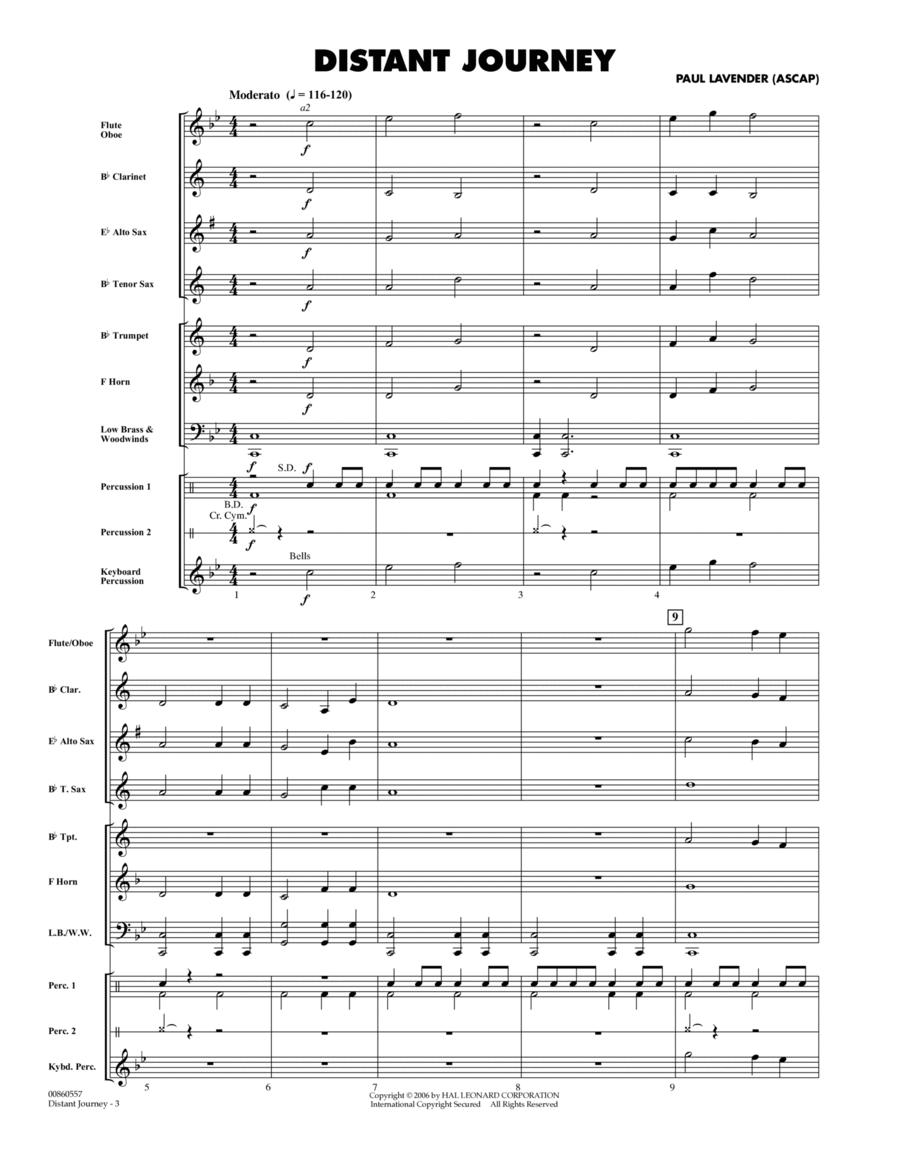 Distant Journey - Full Score