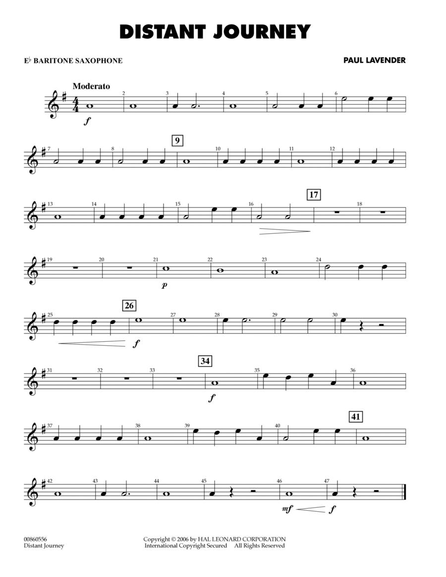 Distant Journey - Eb Baritone Saxophone