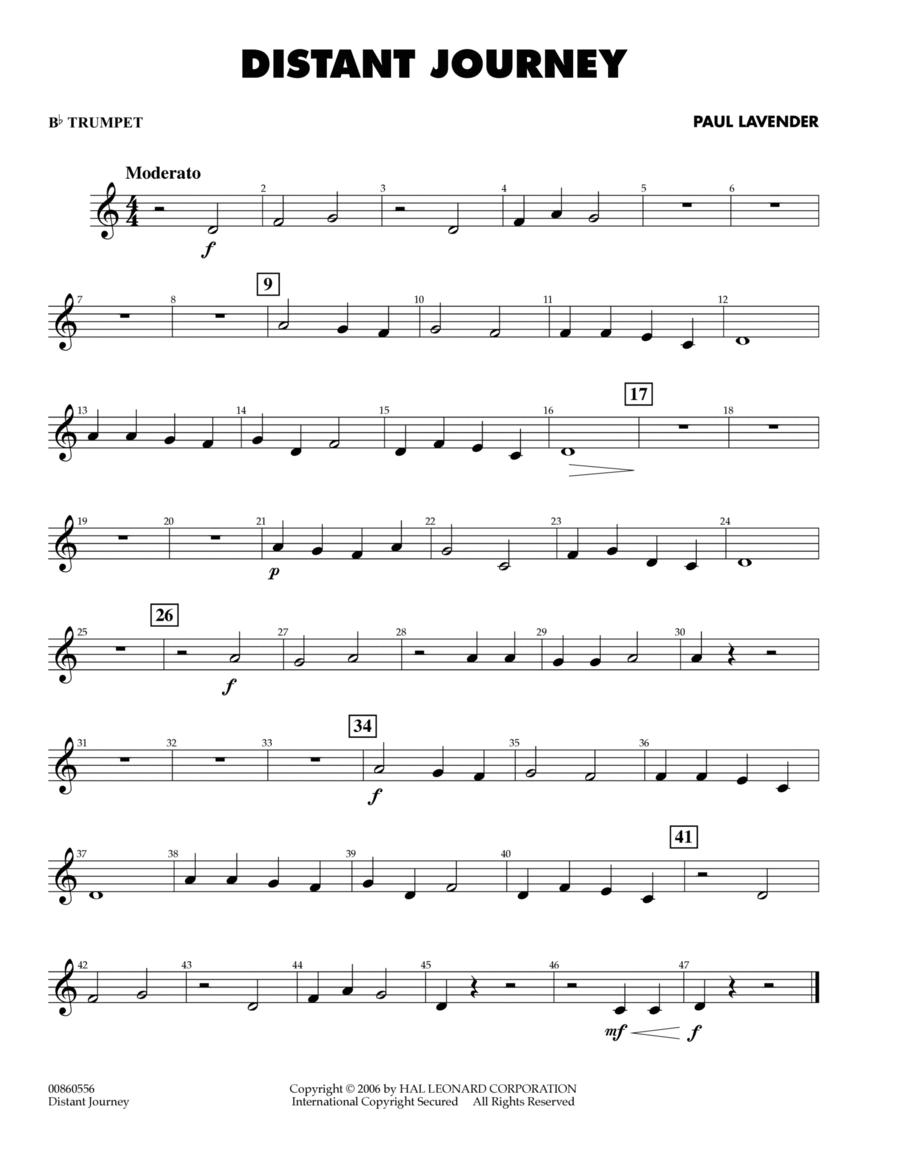 Distant Journey - Bb Trumpet