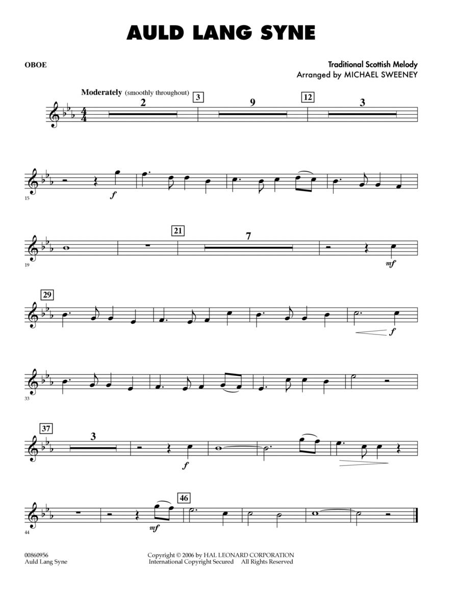 Auld Lang Syne - Oboe