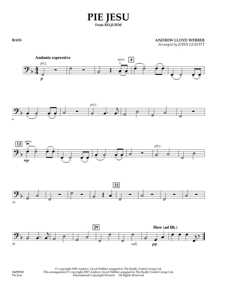 Pie Jesu (from Requiem) - Bass