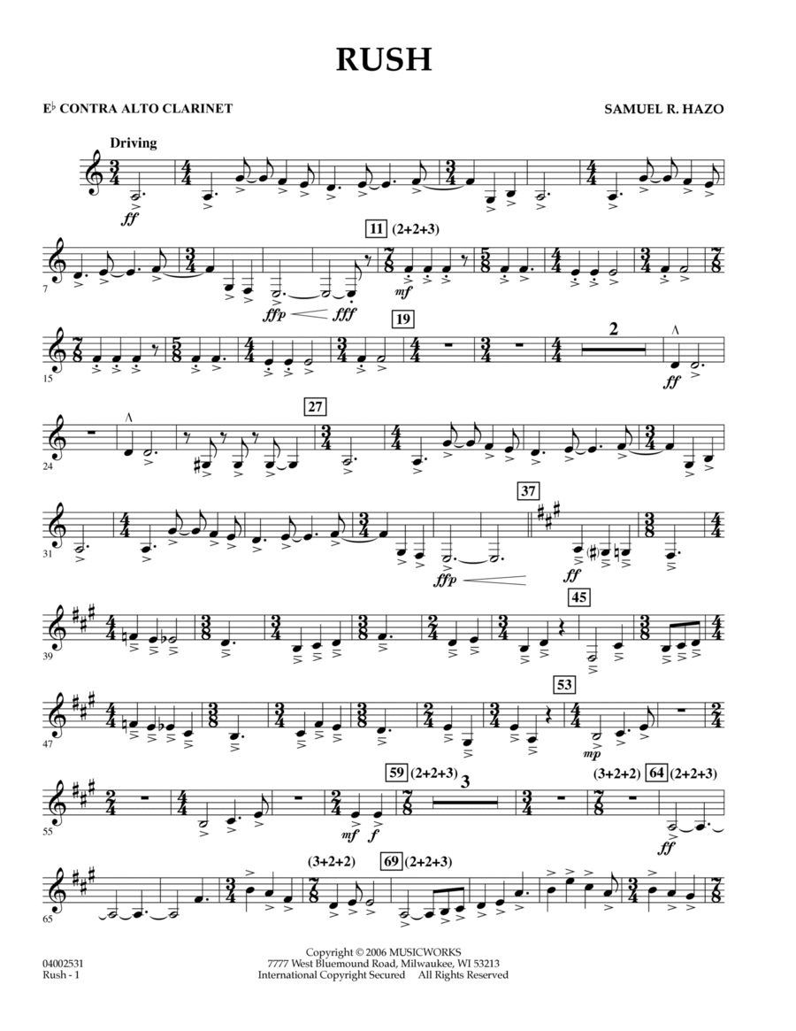 Rush - Eb Contra Alto Clarinet