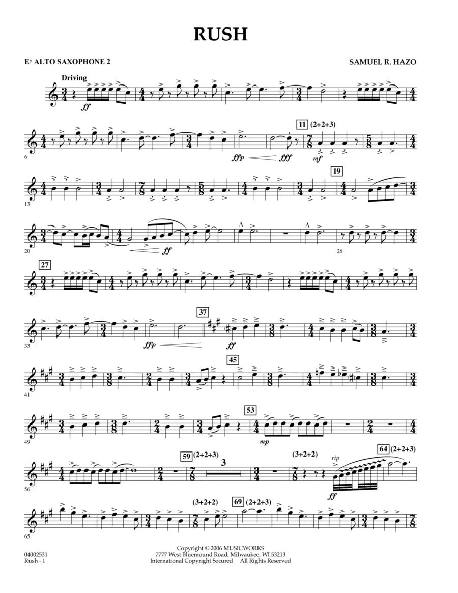 Rush - Eb Alto Saxophone 2