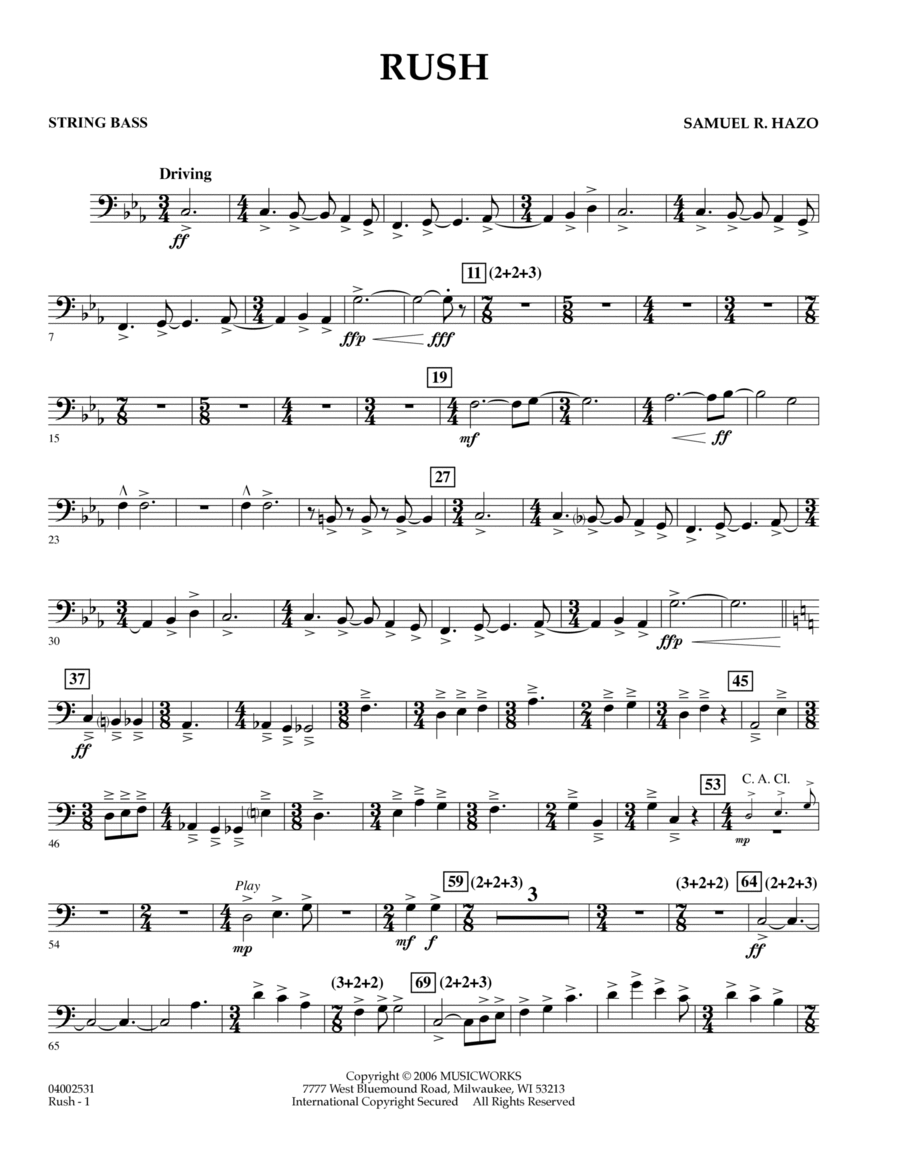 Rush - String Bass